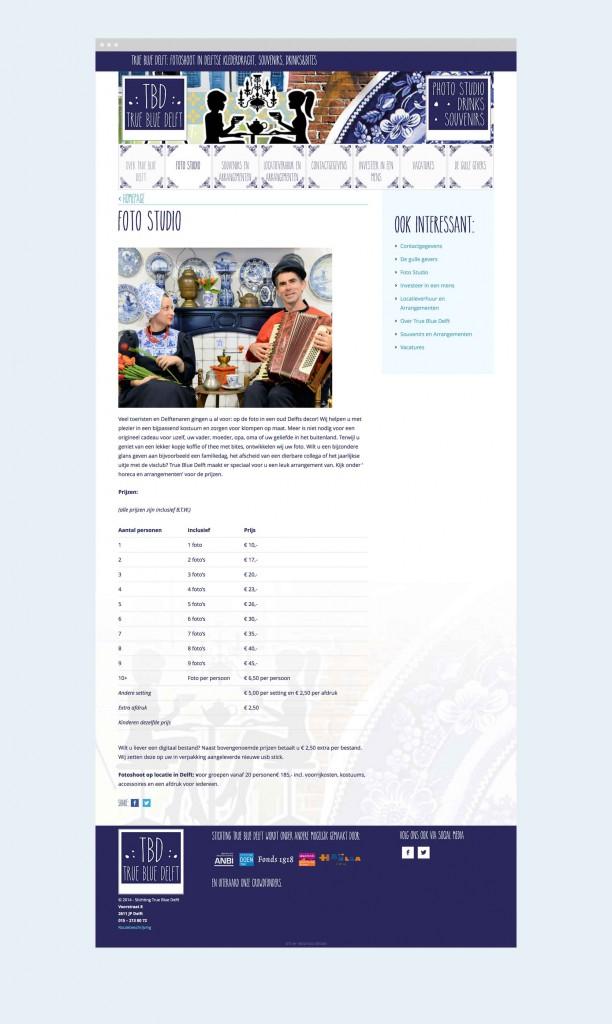 True Blue Delft - Content pagina