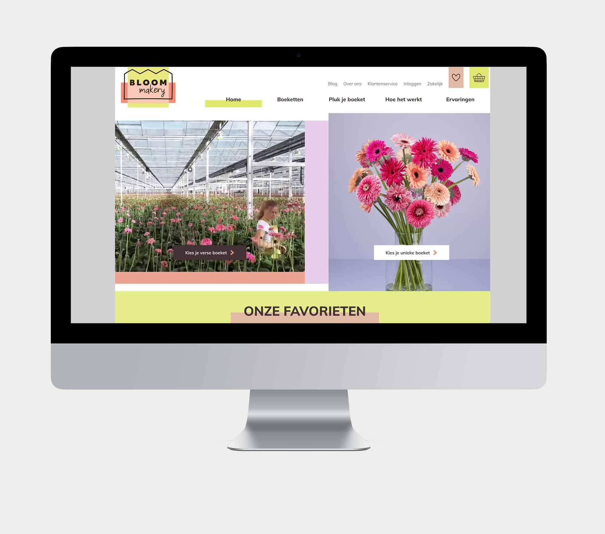 Bloommakery homepage